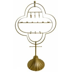 Standing Rotating Gold Jewelry Holder